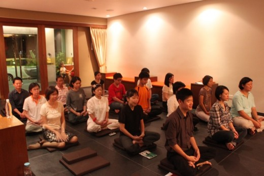 Practice of meditation in honour of our teachers